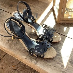 Tory Burch heeled sandals size 11.